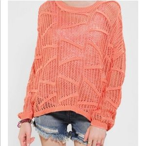 UO Sparkle and fade mesh dolman sweater size small